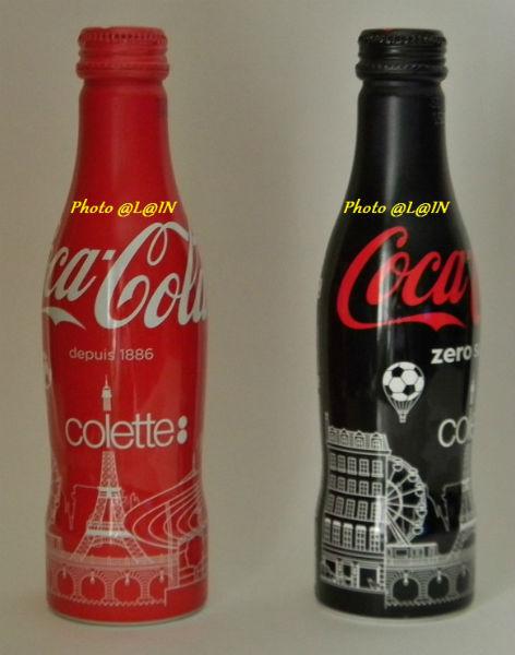 H - FOOTBAL Euro 2016 2 aluminum bottles PARIS COLETTE